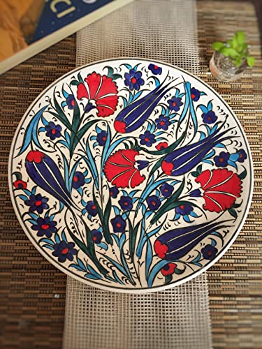 IstanbulArtWorkshop Turkish Ceramic Plate 7 Unique Home Decor,Wall Art Decorative Ceramic Plate Decorative Plates For Hanging Wall Plate Wall Decor Plate