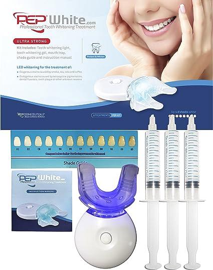 Kit de blanqueamiento dental PepWhite, kit completo con instrucciones de uso (idioma español no garantizado): Amazon.es: Belleza