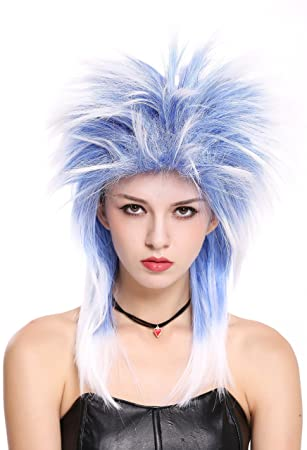 WIG ME UP ® - 90891-ZAC3TZA60 Peluca Mujer Hombre Carnaval Halloween años 80 Punk