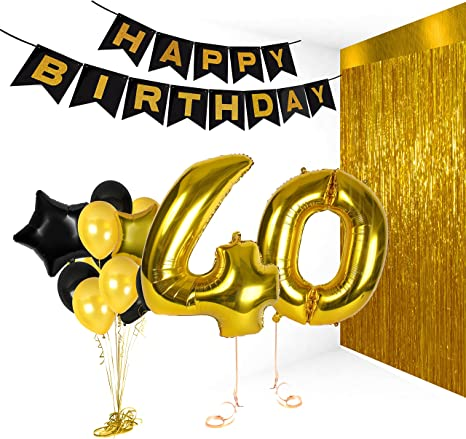 Amazon Com 40th Birthday Metallic Decorations Ideas Gifts For Women And Men Photo Booth Props Happy Bday Garlands Gold Backdrop Centerpieces Party Supplies Kitchen Dining I think i have covered almost like all prime most interest of any man. 40th birthday metallic decorations ideas gifts for women and men photo booth props happy bday garlands gold backdrop centerpieces party supplies