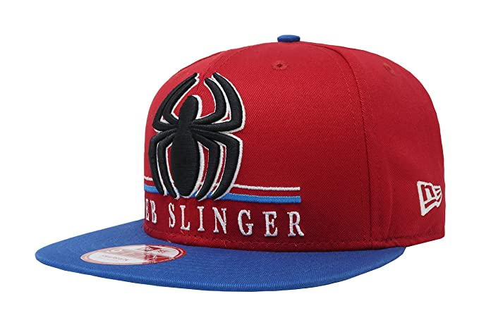 a2223f5829d New Era 9Fifty Spiderman Heroic Red Blue Adjustable Snapback Cap Size  Small Medium