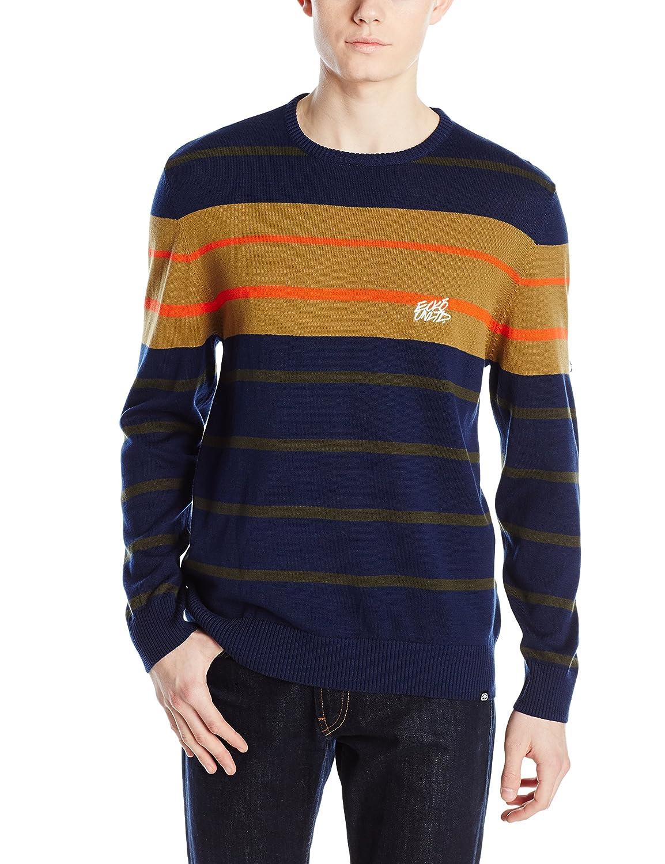 Ecko UNLTD Mens Stripe Crew Yarn Dyed Sweater