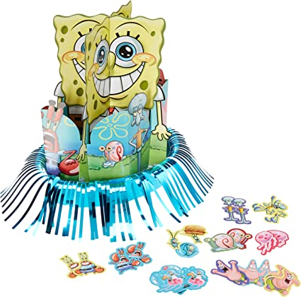 Amazon.com: Present Time Silly – Bob Esponja Party Kit para ...