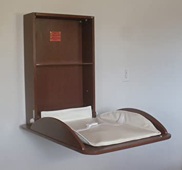 Wall Mounted Baby Changing Table, Classic Vertical,New Town Brown