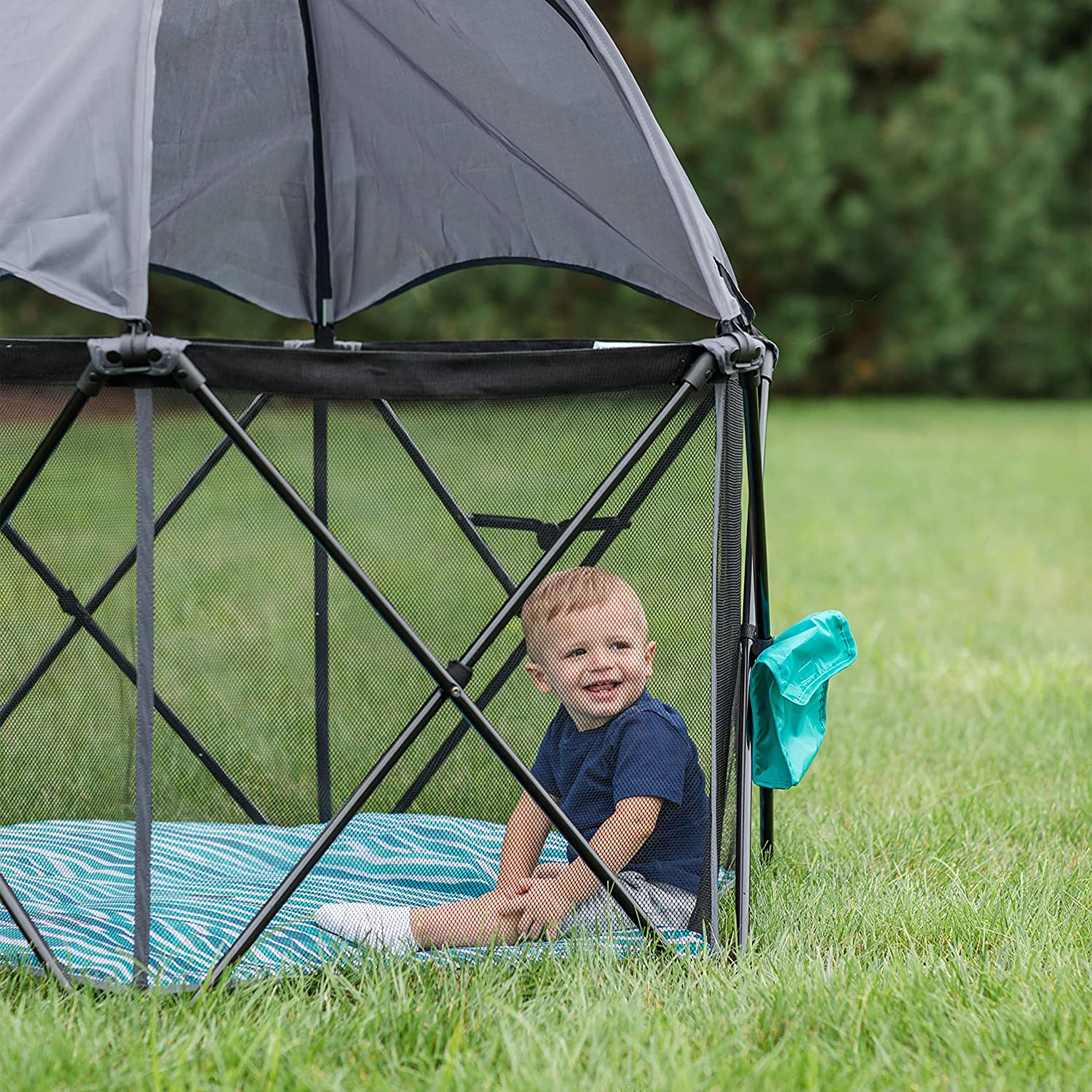 Baby Delight Go with Me Eclipse Portable Playard Canopy Included