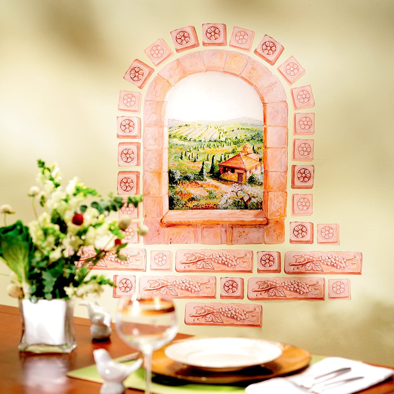 Tuscany Arch Window Wall Mural