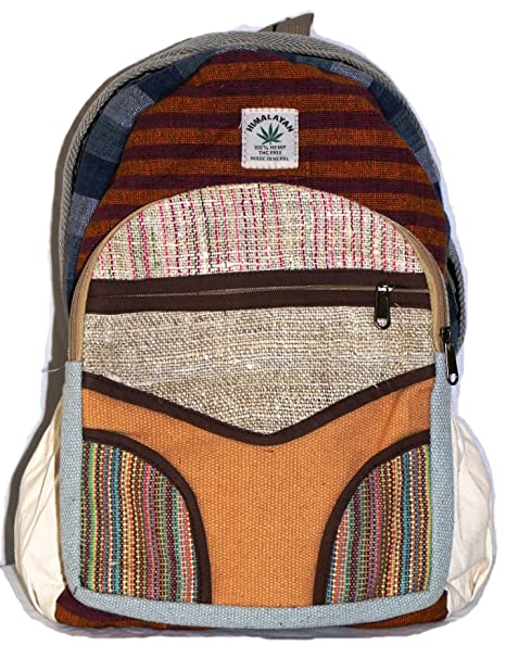 Mochila de fibra de cáñamo / Mochila de cáñamo / Daypack para la escuela, viajes, vacaciones, ocio, ...