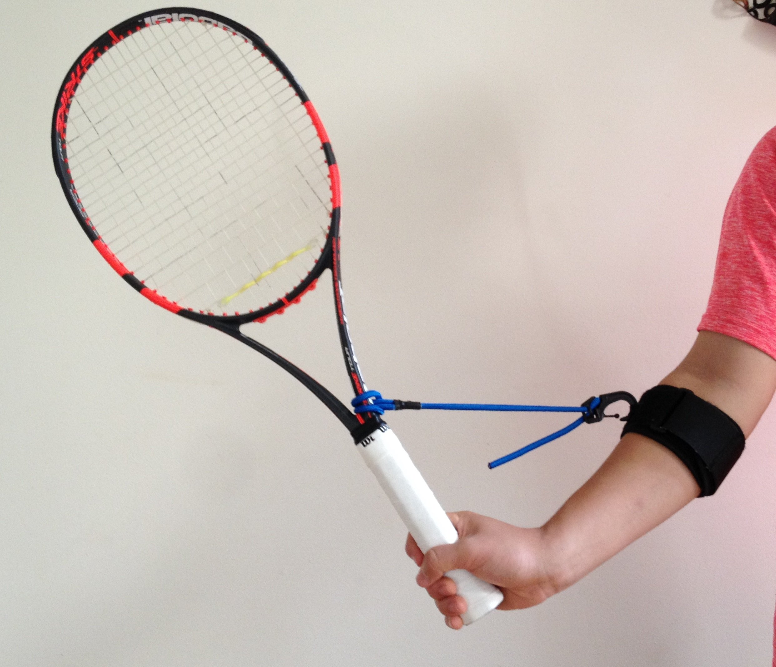 Tennis Swing Wrist Training Aid for Forehands, Backhands, Volleys and Serves - PermaWrist