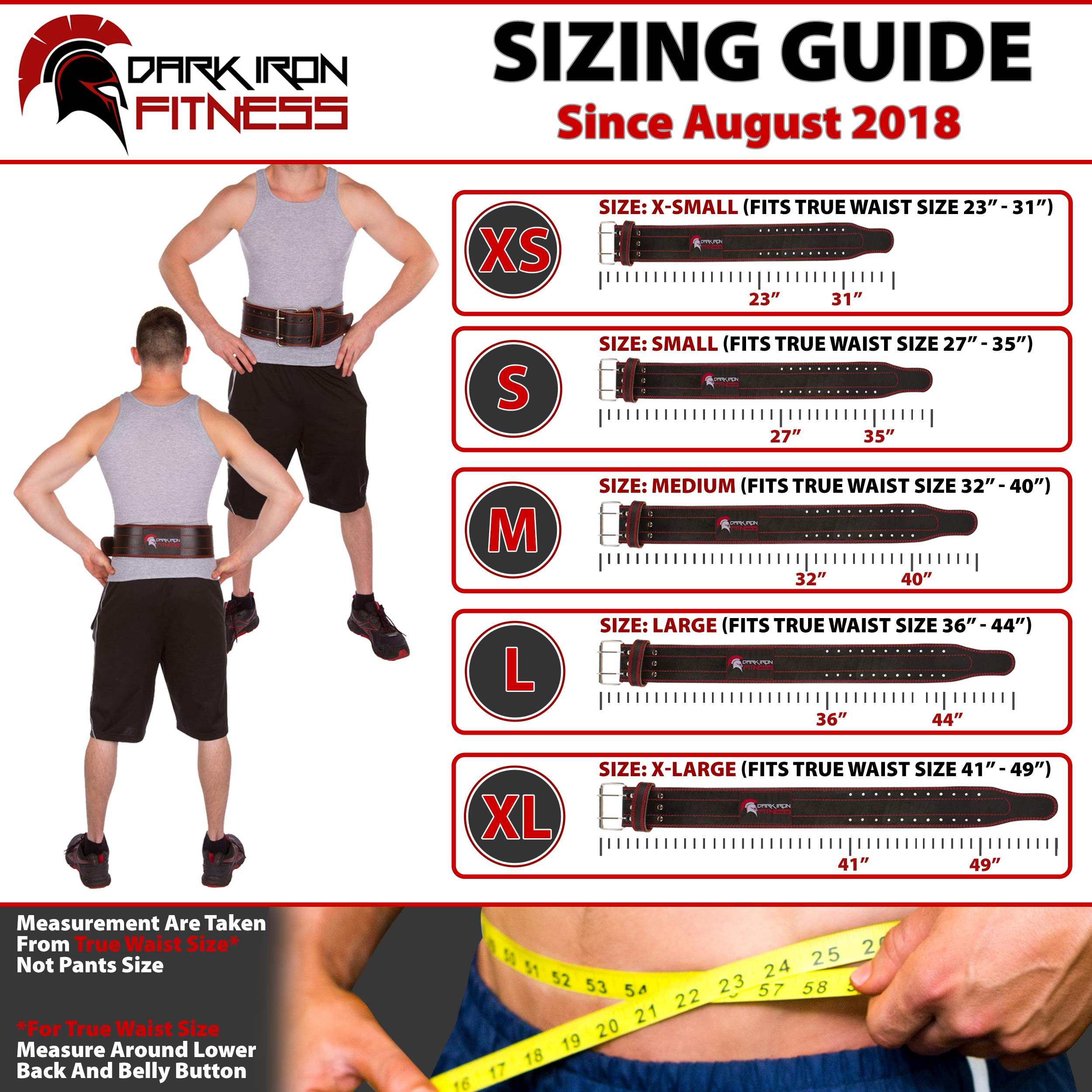 Medium Weight Lifting Belt Powerlifting Belt with Lifting Equipment Weightlifting Belt Body Building Lifting Belt Power Weight Lifting Belt Squat Belt Leather Weightlifting Belt by Dark Iron Fitness (Image #5)