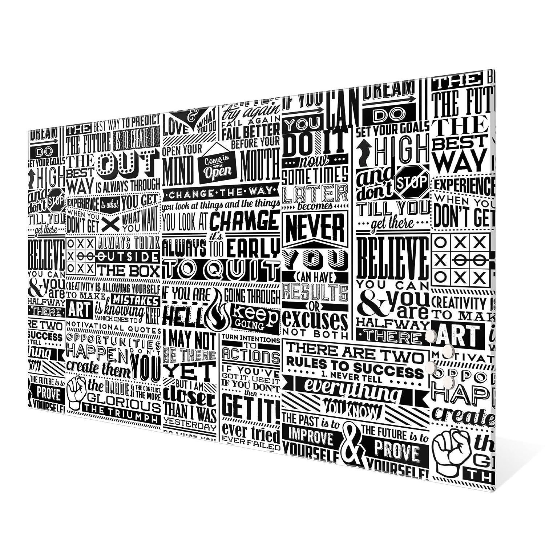 Bürobedarf & Schreibwaren Büromaterial BANJADO Glas Magnettafel