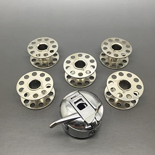 Carcasa + 5 bobinas de bobina para máquina de coser se ajusta, BROTHER JANOME, Singer + más: Amazon.es: Hogar