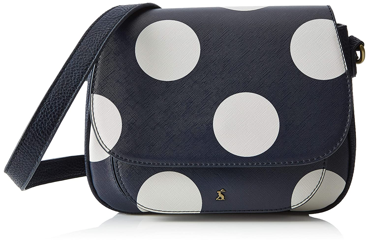 Navy Spot One Size Navy Spot One Size Joules Darby Print Womens Saddle Bag