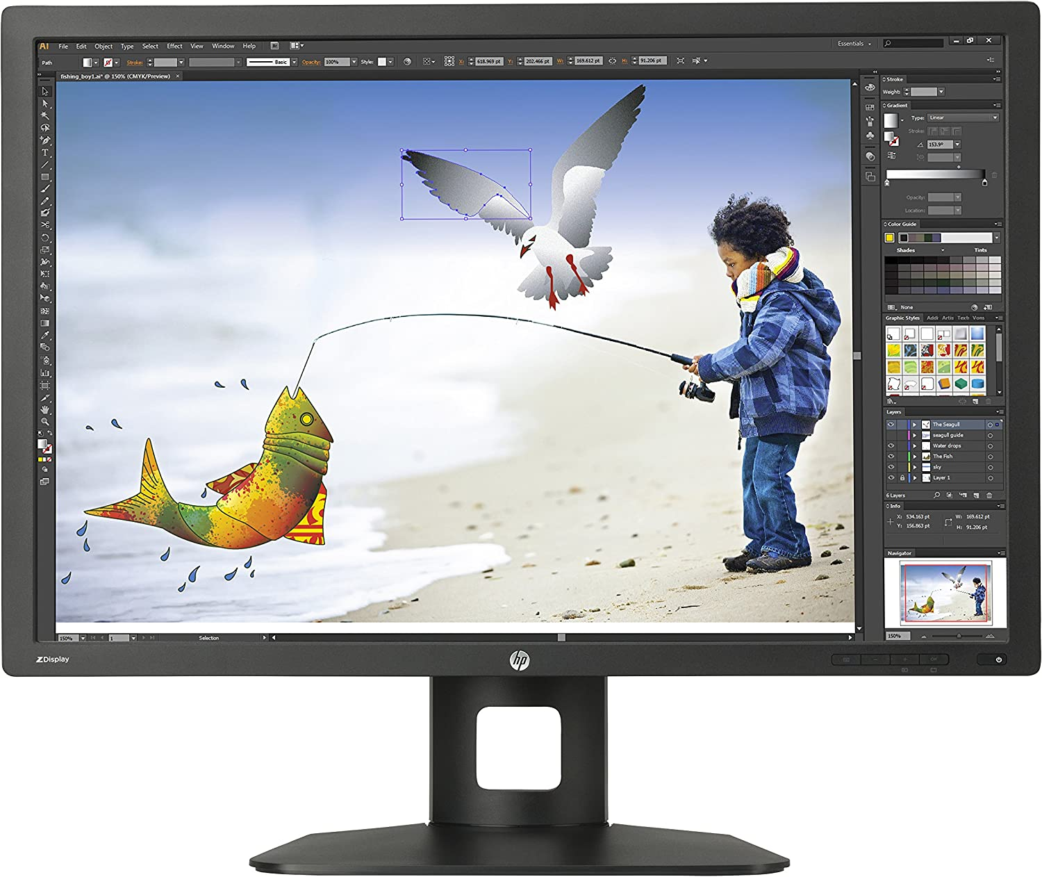 HP Z Display 30-Inch Screen LED-Lit Monitor Black (D7P94A4#ABA)