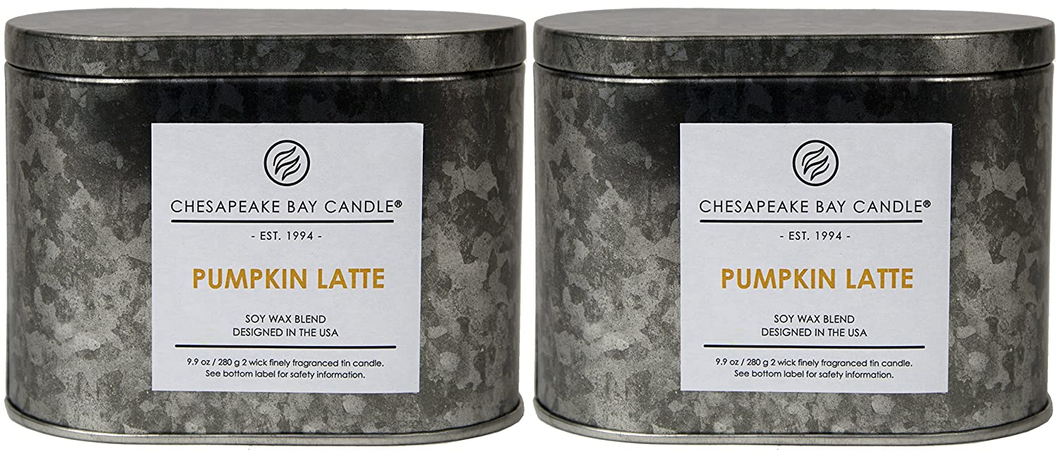 Chesapeake Bay Candle Heritage Collection Double Wick Tin Scented Candle, Balsam Fir (2-Pack) PT96757