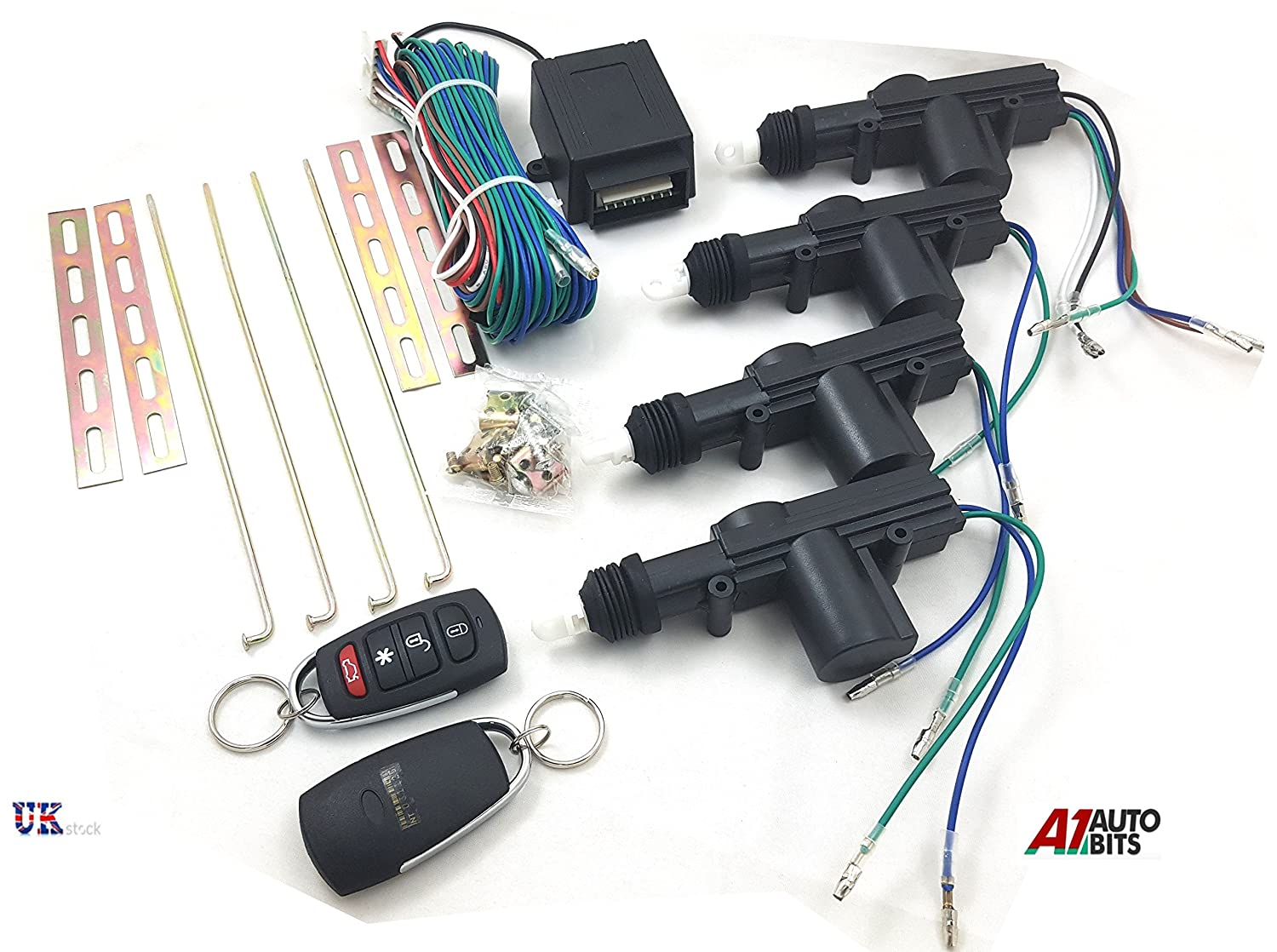 Other Universal Remote Central Locking Upgrade Kit Keyless Entry 2 Fobs LED Flash New unbranded