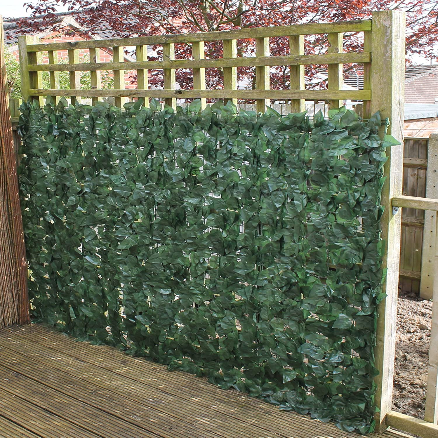 Delightful True Products Ivy Artificial Screening Leaf Hedge Panels On Roll Privacy  Garden Fence, Green, 1.5m X 3m: Amazon.co.uk: DIY U0026 Tools