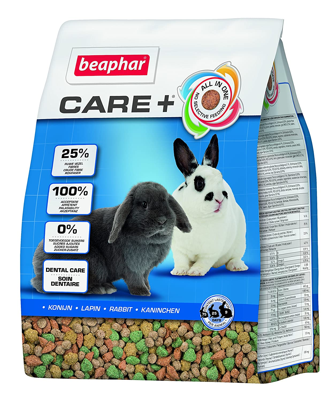 Beaphar - Care+ alimentation super premium - lapin junior - 1, 5 kg - Lot de 4 17026 alimentation lapin junior alimentation rongeur nourriture lapin
