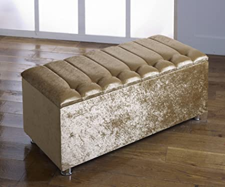 gold mirrored tray bench x storage ottoman