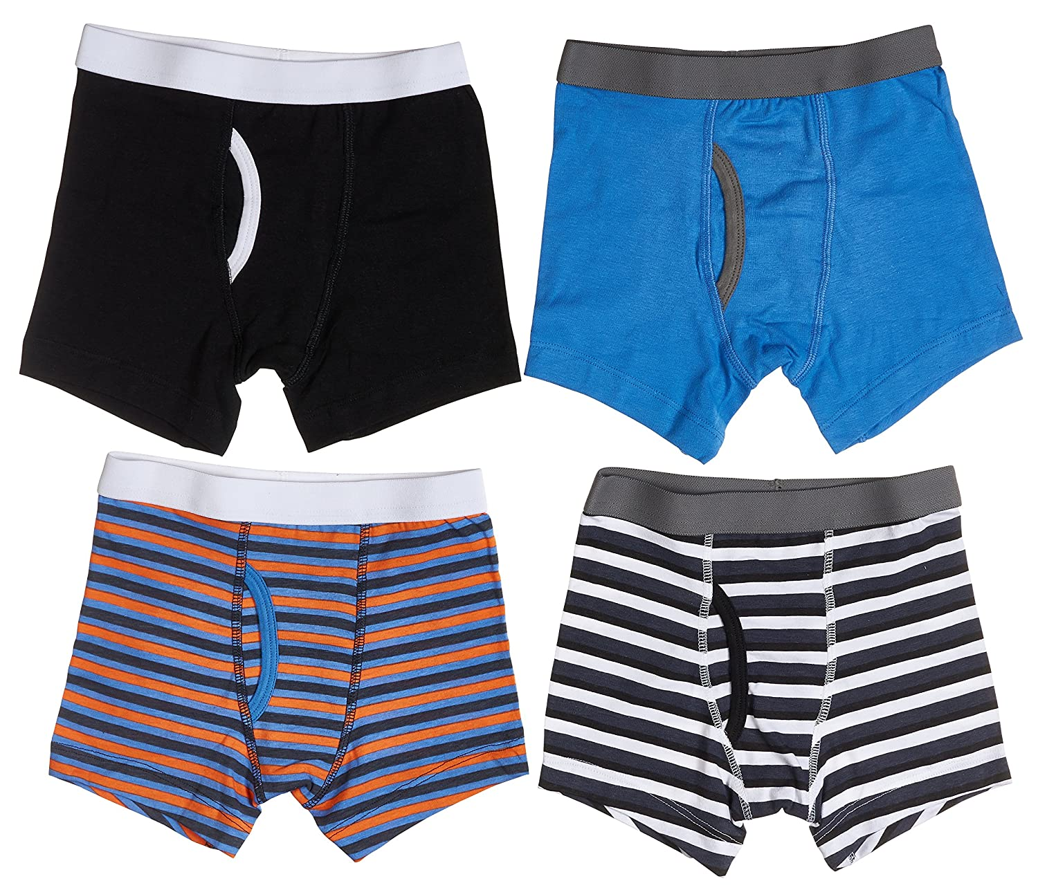 Trimfit Boys Stripes Boxer Briefs 4-Pack 79111