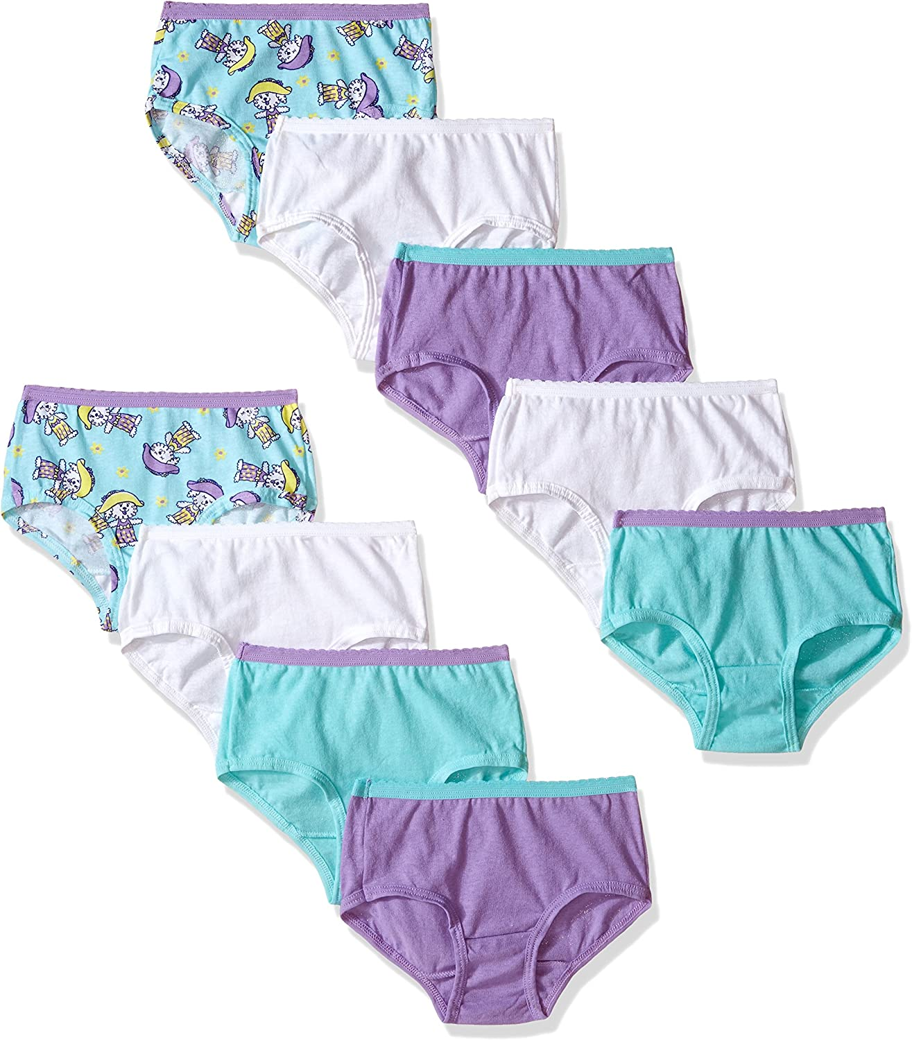 Fruit of the Loom Little Girls  Assorted Brief Pack of 6