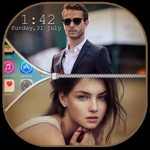 Dual Photo Zip Lock Screen (Lock Screen Next)