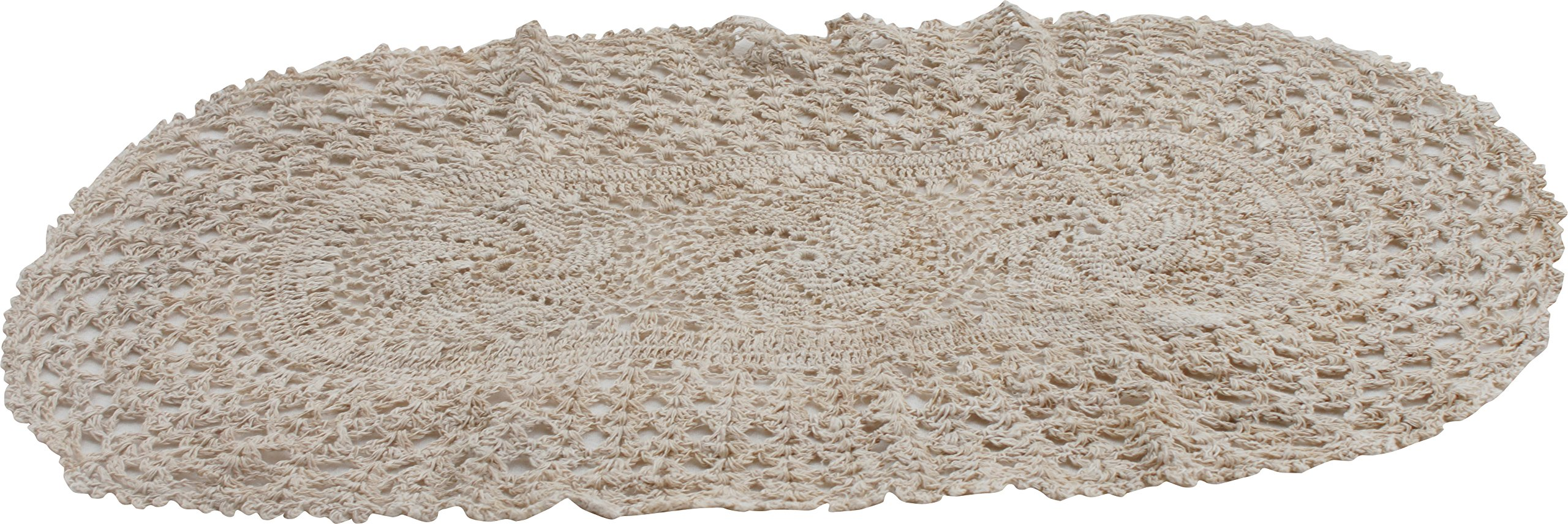 RaanPahMuang Swedish Table Placemat Crocheted from Raw Thai Hemp Thread 10x20'' by RaanPahMuang
