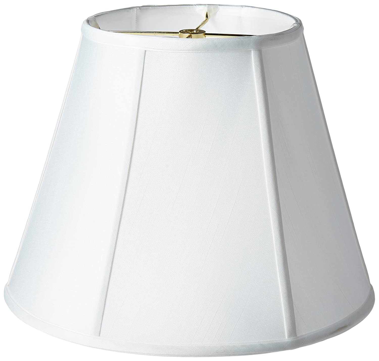 Amazon.com: Royal Designs Deep Empire Lamp Shade, White, 8 x 14 x ...