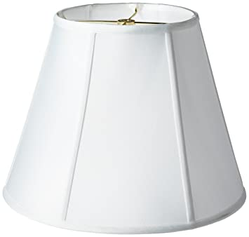 Exceptional Royal Designs Deep Empire Lamp Shade, White, 8 X 14 X 11