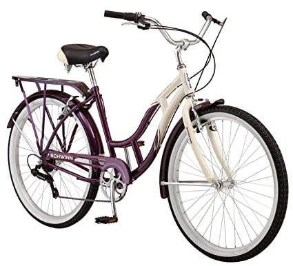 Amazon.com : Schwinn Women\'s Sanctuary 7-Speed Cruiser Bicycle (26 ...