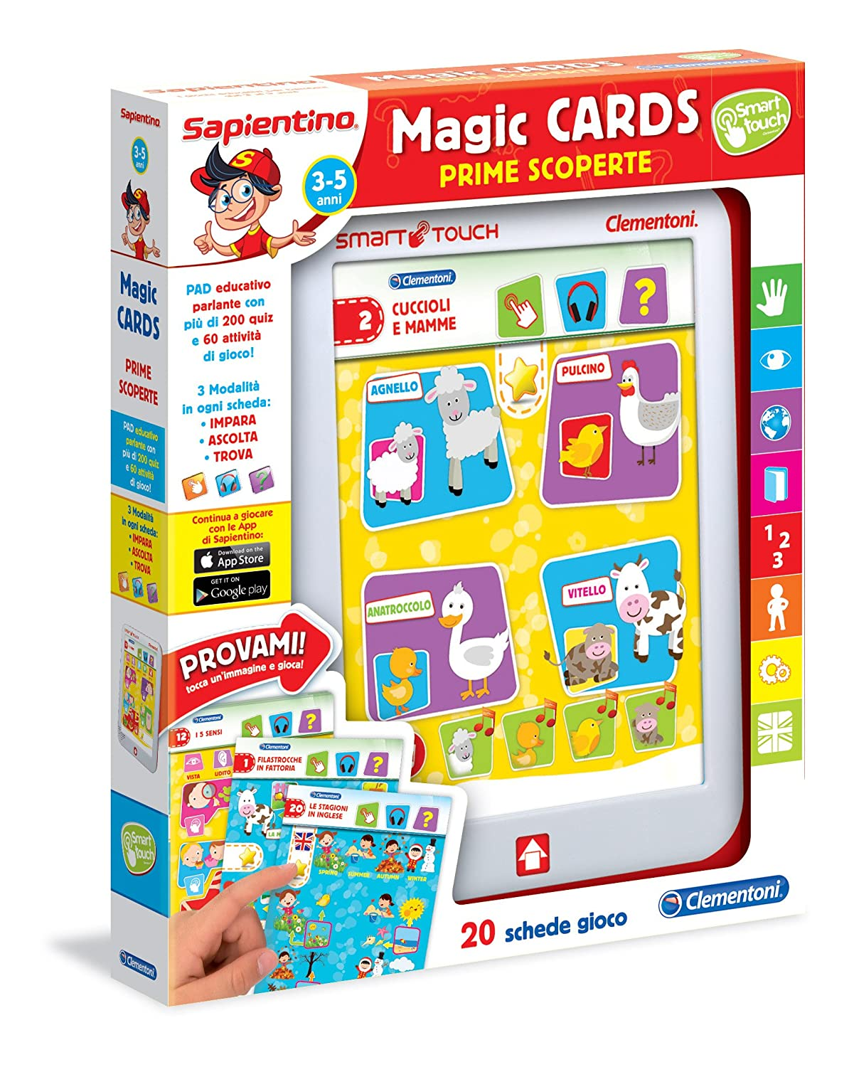 Sapientino Clementoni 13275 Magic Cards Prime Scoperte, 3-5 Anni Clementoni Spa Italy