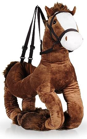 Un Cómodo Kim de peluche de caballo pony con asas ajustables Disfraz Cowboy 80 x 40
