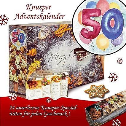 50 Geburtstag Advent Kalender Knabbereien Weihnachtskalender