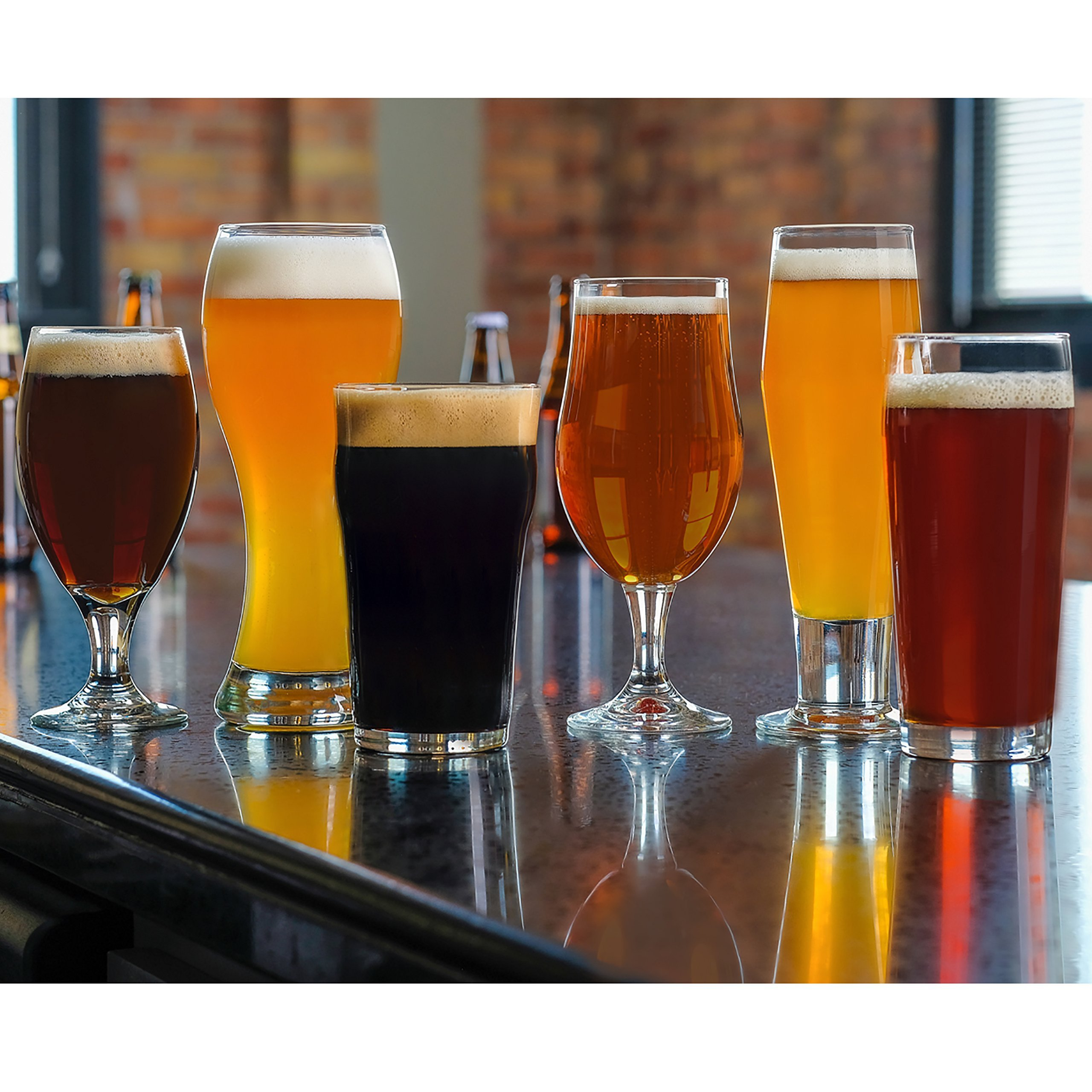Libbey Craft Brews 6-piece Assorted Beer Drinkware Glass Set by Libbey (Image #3)