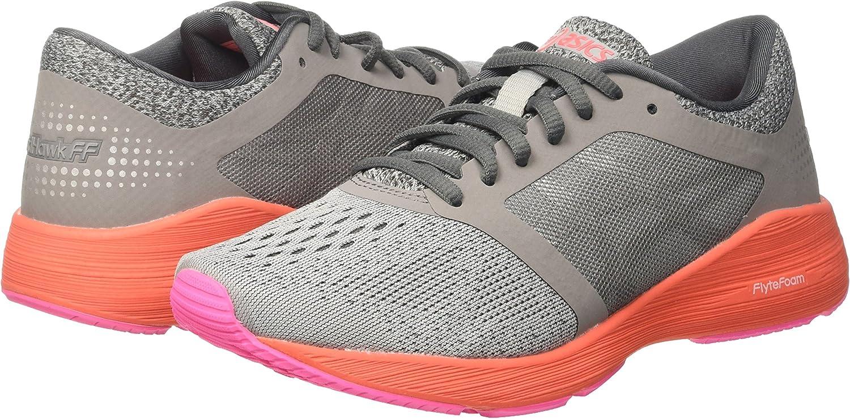 Asics T7D7N9793, Zapatillas de Running para Mujer, Gris (Carbon/Silver/Flash Coral), 38 EU: Amazon.es: Zapatos y complementos