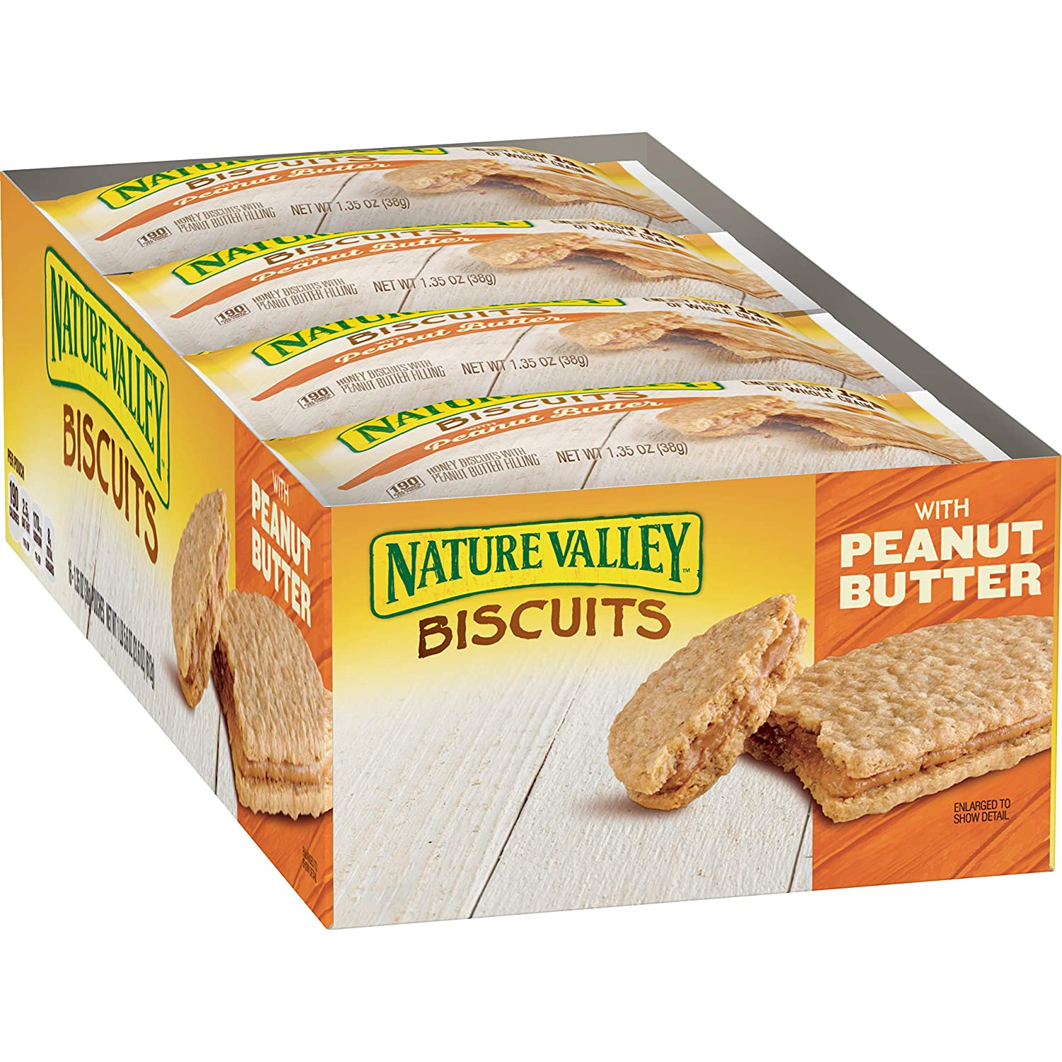 Nature Valley Peanut Butter Biscuits Granola Bars, 96 Count