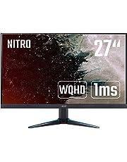 Acer Nitro VG270UPbmiipx 27 inch WQHD Gaming Monitor, (IPS Panel, FreeSync, 144Hz, 1ms, ZeroFrame, DP, HDMI, Speakers) Black