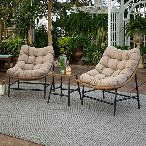 Walker Edison Furniture Company AZRRSCSNL Outdoor Chair Set