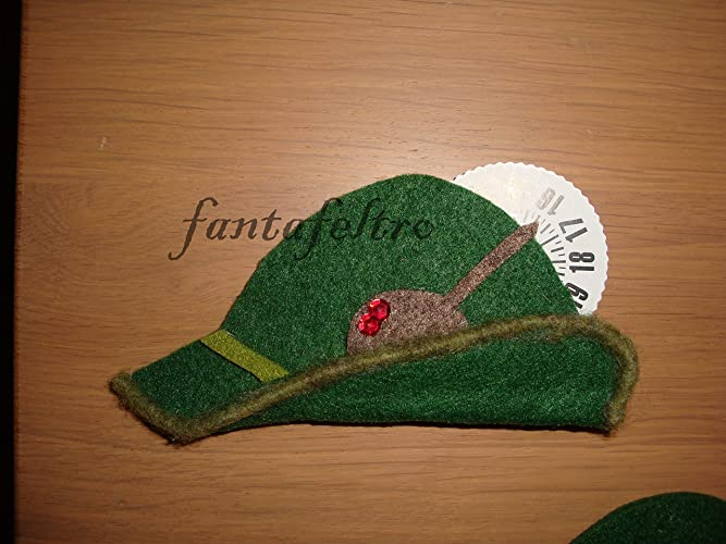 Disco orario cappello Alpini idea regalo Alpino  Amazon.it  Handmade e4ebefe60251