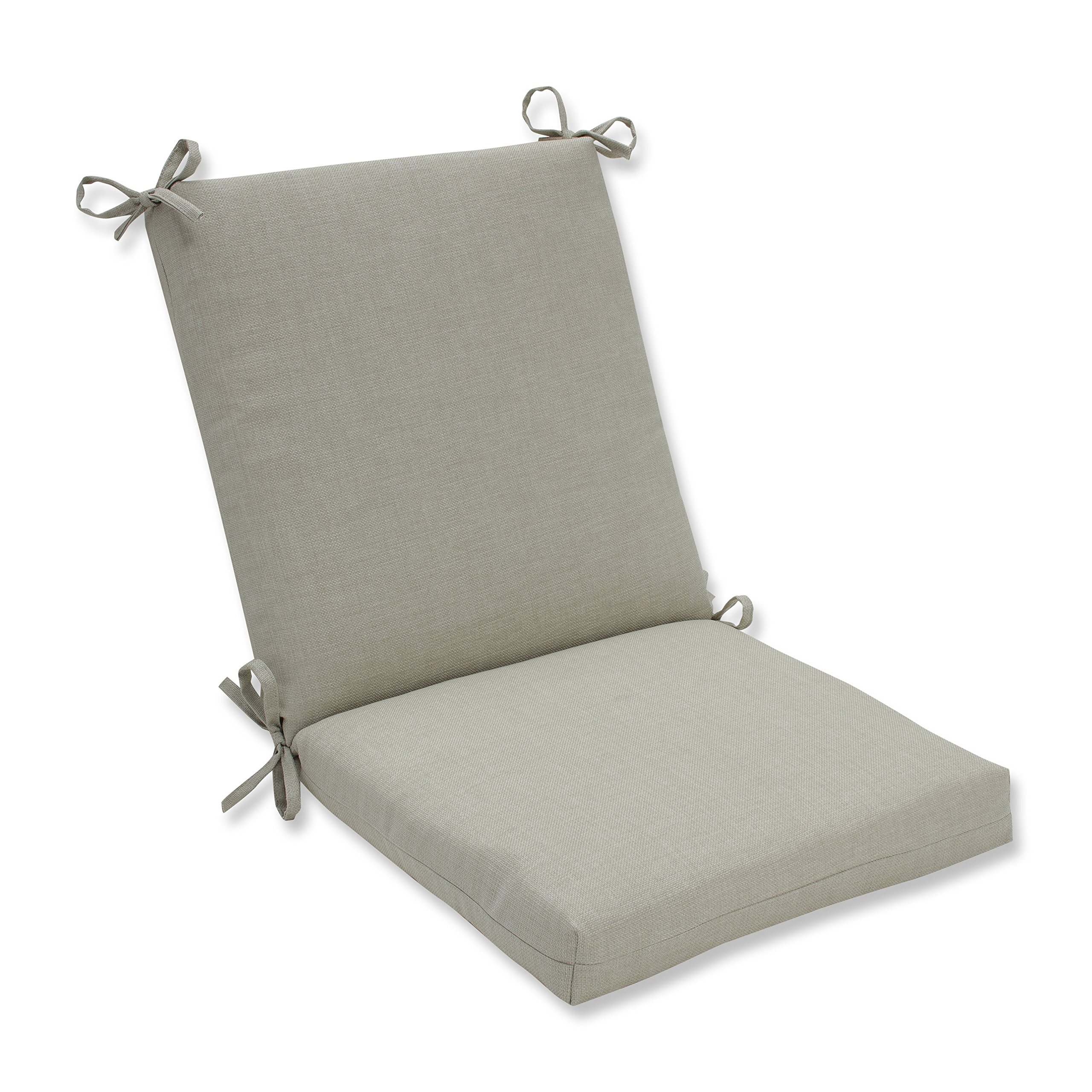 Pillow Perfect Outdoor/Indoor Rave Driftwood Squared Corners Chair Cushion
