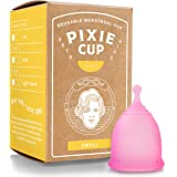 Pixie Menstrual Cup - Most Comfortable Authentic Reusable Period Cup and Best Removal Stem - Tampon and Pad Organic Alternati