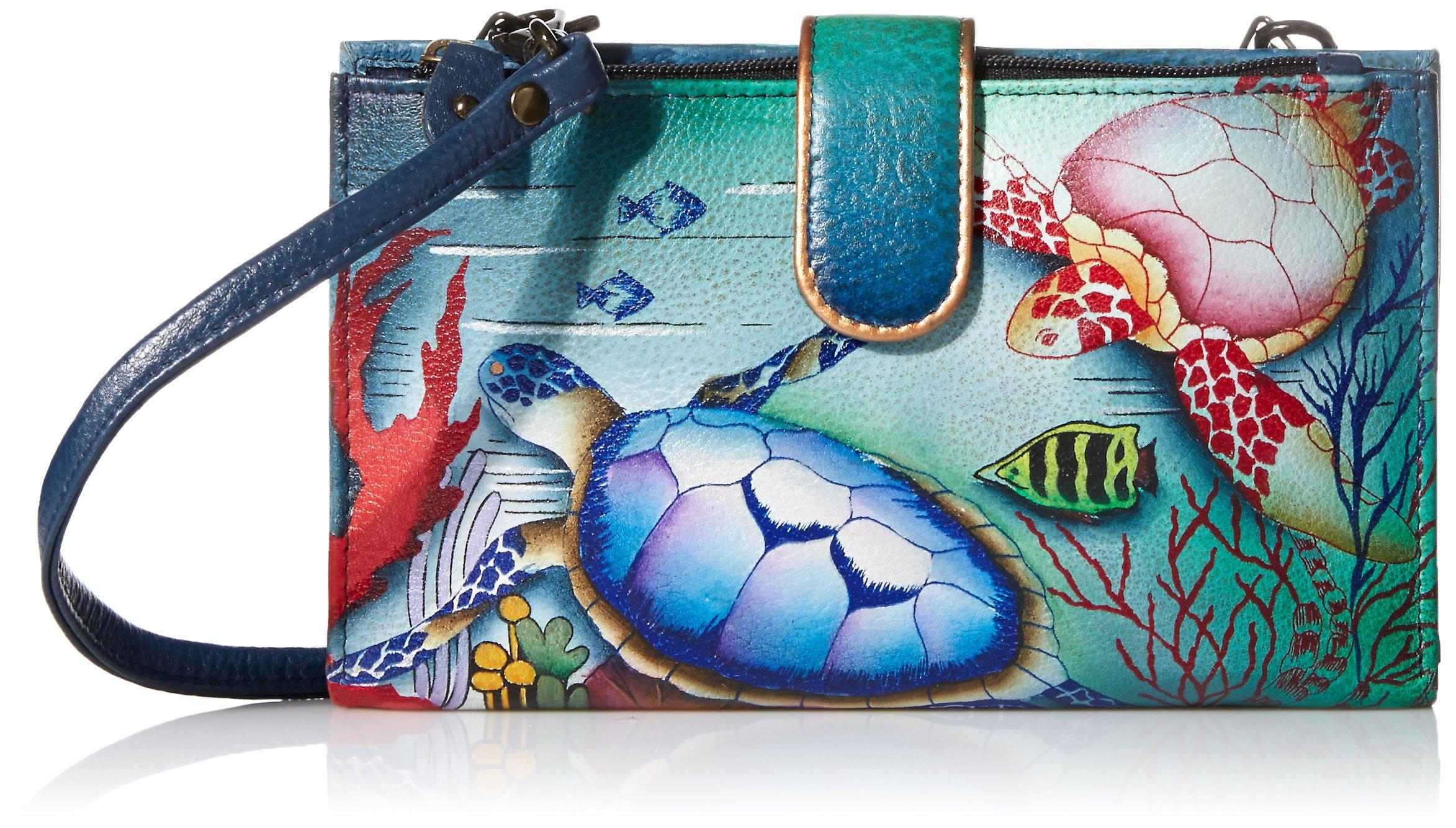 Anuschka Large Smart Phone Case Oct, Ocean Treasures