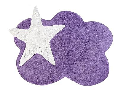 Tappeti Per Bambini Lavabili In Lavatrice : Aratextil mimosa tappeto per bambini cotone lilla cm
