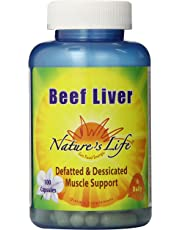 Natures Life Beef Liver, Defatted & Dessicated, 1500 Mg, 100 Capsules