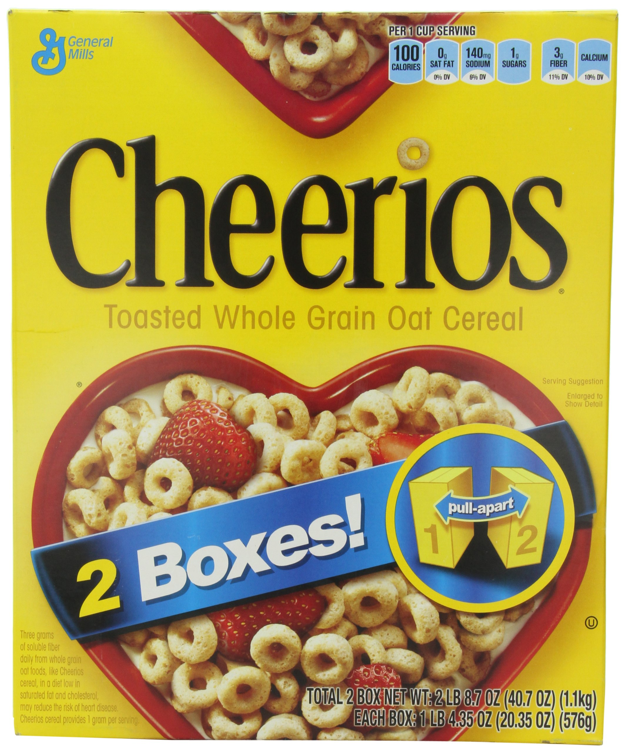 General Mills Cheerios Toasted Whole Grain Oat Cereal, 20.35 oz, 2 Count