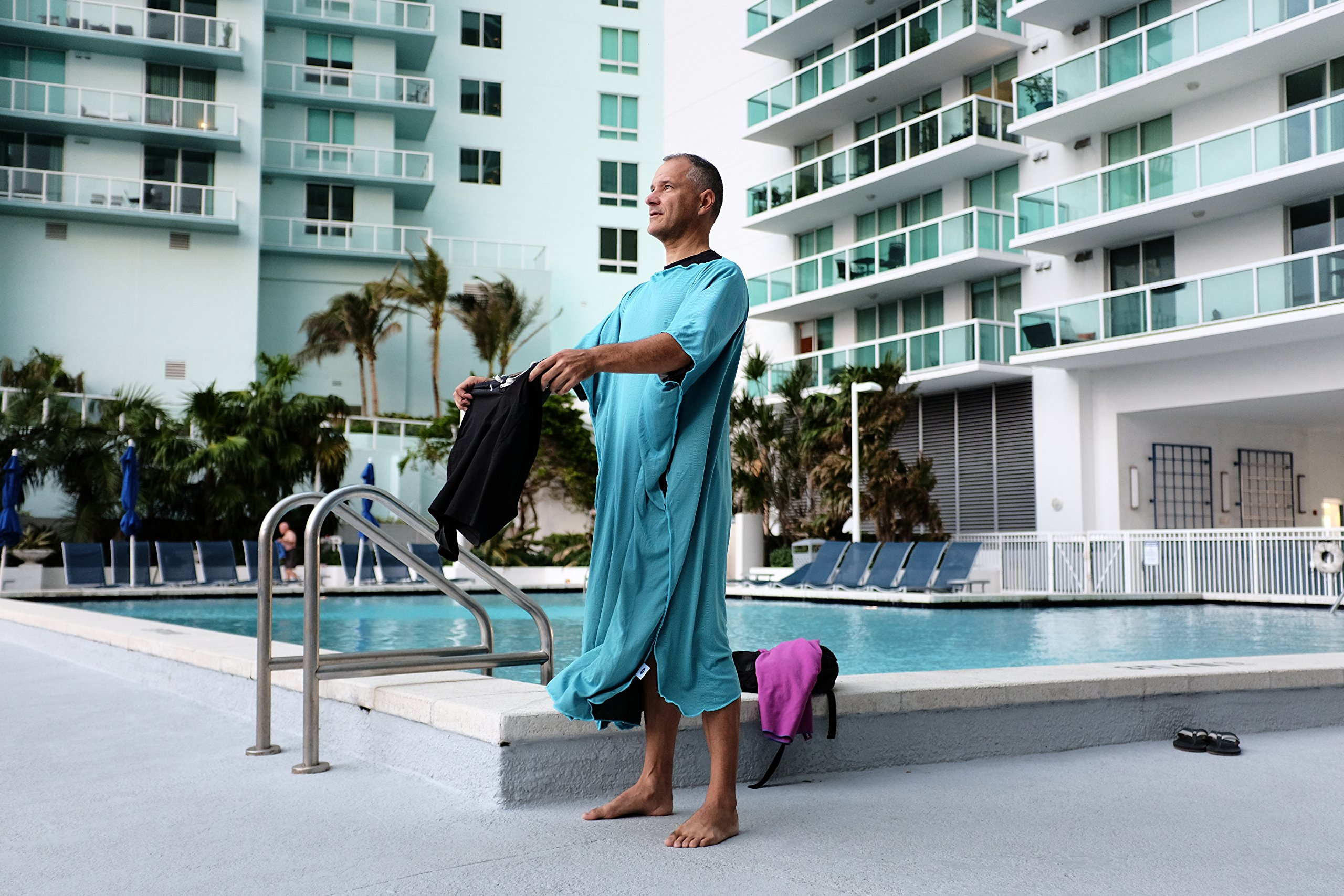 Privacy Changing Poncho Robe - Ultra Light - Cooling Towel - Over Heating Prevention