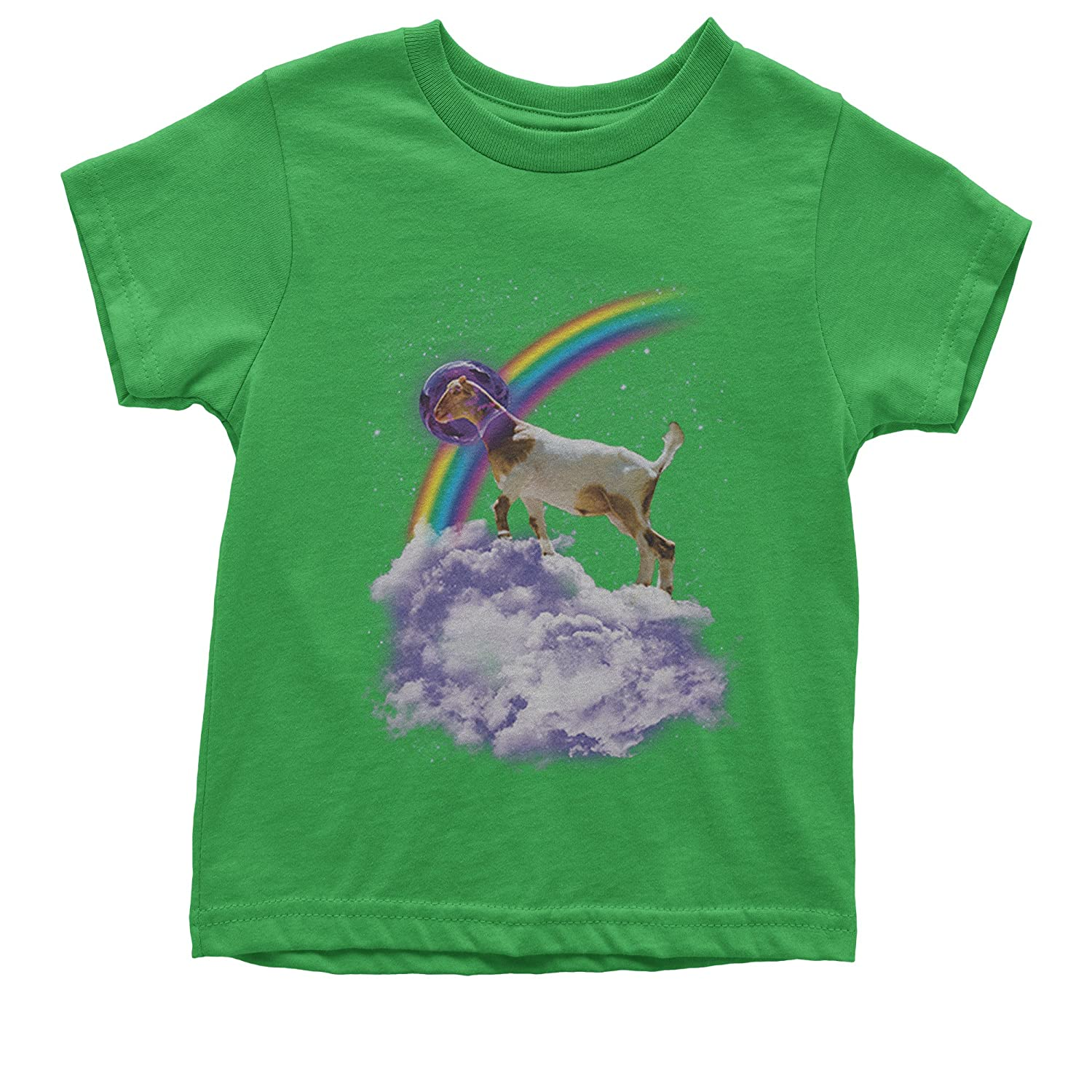 Expression Tees Rainbow Goat On Cloud Youth T-Shirt