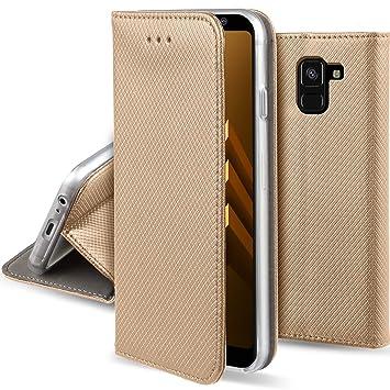 Moozy Hulle Flip Case Fur Samsung A8 2018 Amazon De Elektronik