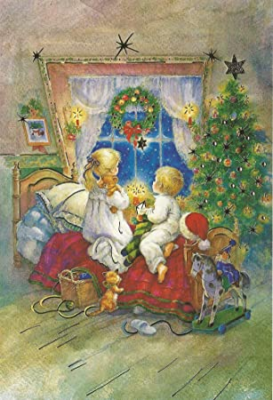 Weihnachten Nostalgisch.Weihnachtskarten 5 Stück Weihnachten Nostalgie Retro Vintage