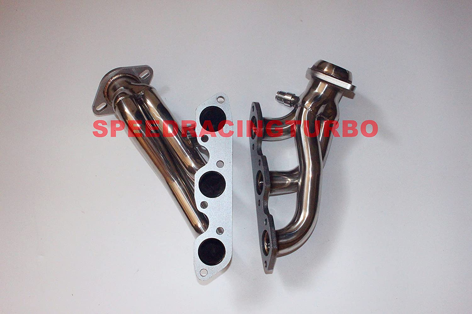 speedracingturbo Exhaust Header For 99-04 Ford Mustang V6 3.8l Stainless Steel Exhaust Shorty