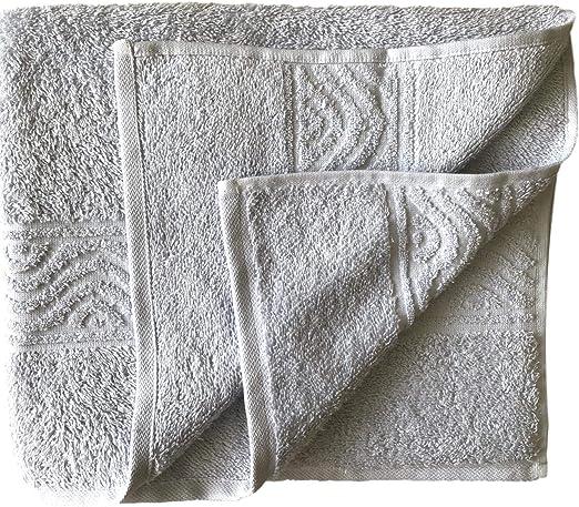 Toalla de ducha (70 x 180 cm, 100% algodón), color gris: Amazon.es ...